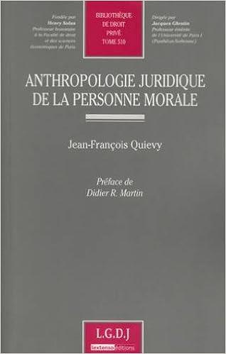 Téléchargement Anthropologie juridique de la personne morale pdf ebook