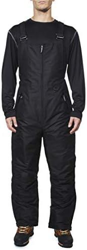 Arctic Quest Mens Insulated Water Resistant Ski Snow Bib Pants