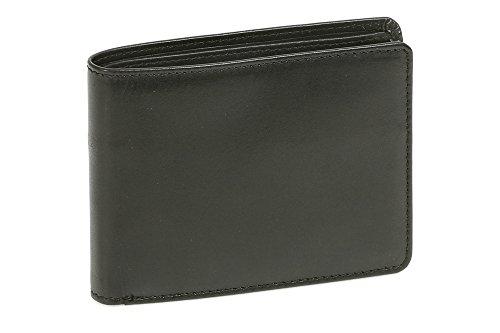Cartera con el cierre para señores y señoras (con la caja de madera) LEAS, Piel auténtica, negro - ''LEAS Elegance-Edition''