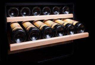2 Zonen Einbaugerät Weintemperierschrank Für 89 Flaschen 5 22°C Dunavox  DAB 89.215DB