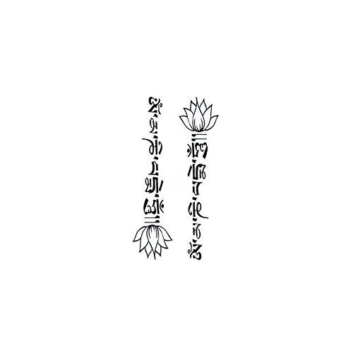6131f43f9b3a Set of 2 Waterproof Temporary Tattoo Stickers Cute Buddha Lotus ...