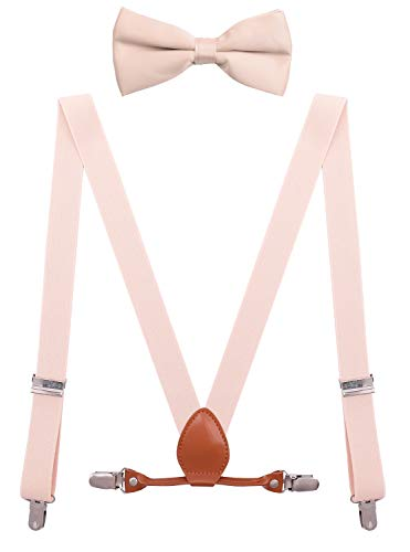 BODY STRENTH Toddler Boys' Suspenders and Bow Tie Set Adjustable Y Shape 24