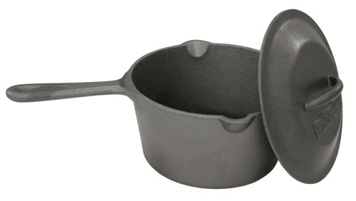 Small Bean Pot - Bayou Classic 7448, 2.5-Qt. Cast Iron Bean Pot with Lid