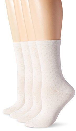 PEDS Women's Floral and Dot Trouser Socks
