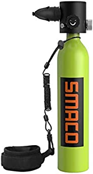 SMACO Mini Scuba Tank Diving Gear for Diver Scuba Diving Tank Oxygen Cylinder with 10-15 Minutes Capability Di