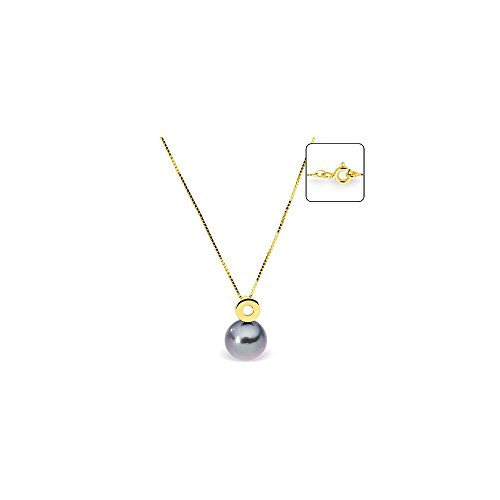 Collier en Or Jaune 375/1000 et Perle de Tahiti -Blue Pearls-BPS K009 W