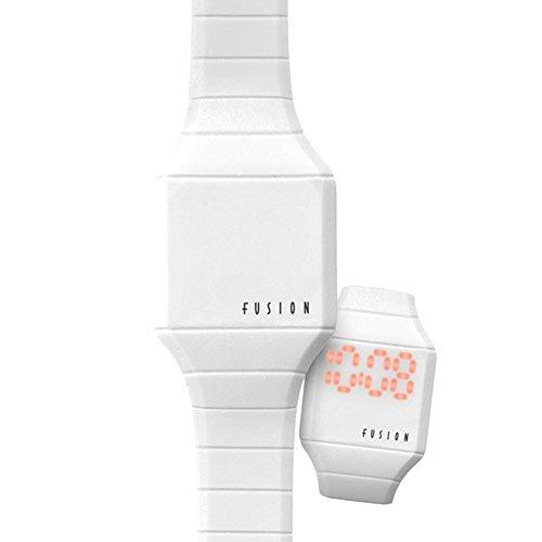 Dakota Girl's Quartz Rubber and Alloy Casual Watch, Color:White (Model: 52499) ()
