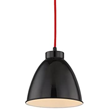【SALE】Black Finish Metal Lampshade Hang Pendant Light, Simple Stylish with Adjustable Cord and Bell Shape Design for Office, Restaurants Good Match with White Pendant Lamp