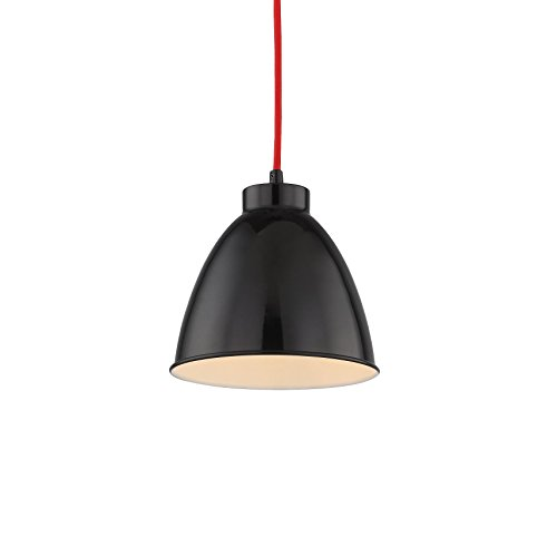【SALE】Black Finish Metal Lampshade Hang Pendant Light, Simple Stylish with Adjustable Cord and Bell Shape Design for Office, Restaurants Good Match with White Pendant Lamp (Moderne Four Light Island)