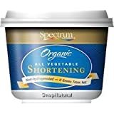 Spectrum Shortening, 100% Vegetable, Organic, 24 oz