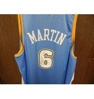 Signed Martin, Kenyon (Denver Nuggets) Denver Nuggets Replica Jersey Size 4XL autographed (Martin Nuggets Kenyon Denver)