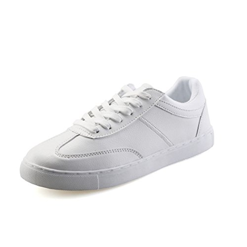 hydne-mens-fashionable-simple-lace-up-flat-joker-lightsome-vintage-shoes41-m-eu-8-dm-uswhite