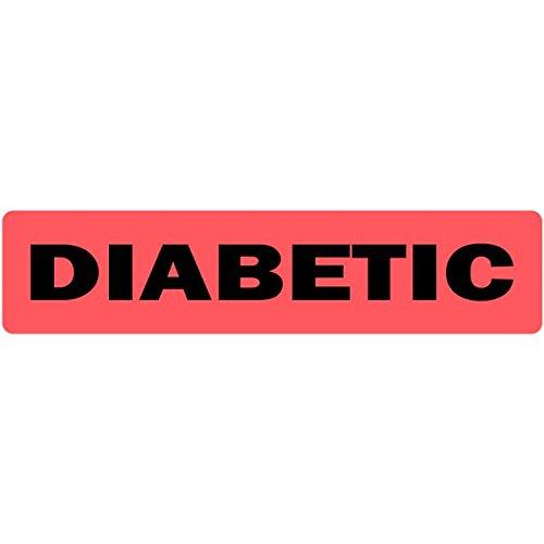 Diabetic Medical Healthcare Labels - 500 Labels Per Roll