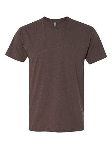 Next Level Apparel Men's CVC Crewneck Blended T-Shirt - Espresso - X-Large -