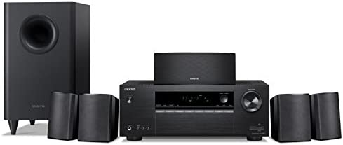 Onkyo HT-S3900 5.1-Channel Home Theater Receiver Speaker Package,black