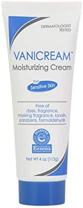 Vanicream Moisturizing Skin Cream | For Sensitive Skin | Soothes Red, Irritated, Cracked, or Itchy Skin | Dermatologist Tested | Fragrance and Paraben Free | 4 Ounce