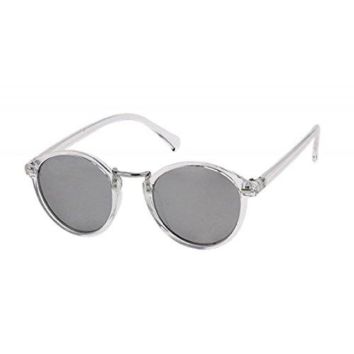Occhiali da sole rotondi Panto 400 UV specchio arco bar rettangoli alta metallo chiaro CMfYKMOI