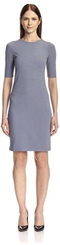 SOCIETY NEW YORK Women's Sunburst Dress, Grey, 4 US (XS) (Society Clothing)