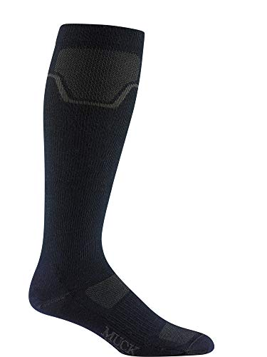 Wigwam Men's Muck Anchorage Over The Calf Sock, Navy II, Large