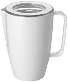 Melaminkanne Milchkanne 4x Melamin Kanne mit Deckel Kunststoffkanne
