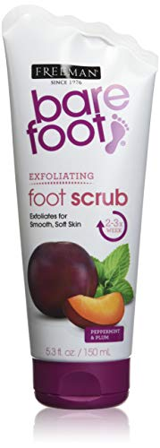 (Freeman Bare Foot Exfoliating foot scrub Peppermint and Plum 5.3 oz)