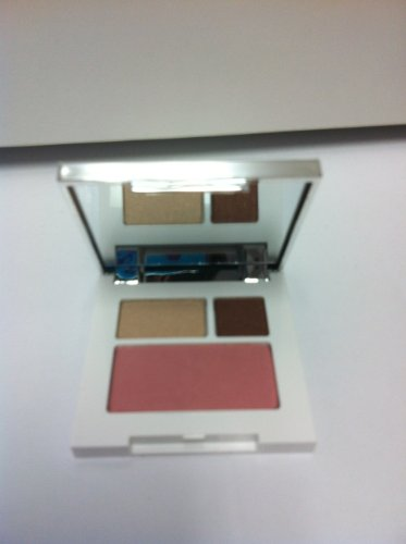 Clinique Colour Surge Eye Shadow Duo Like Mink .03oz/1g +Blushing Blush Powder Blush Cupid ()