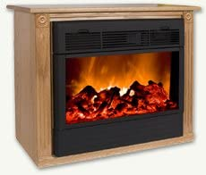 Amazon Com Heat Surge Fireplace With Amish Made Mantle Oak Home