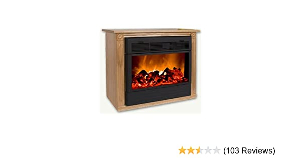 Amazon.com: Heat Surge Fireplace with Amish Made Mantle Oak: Home ...