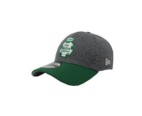 New Era 39hirty Hat Santos Laguna Soccer Club Liga MX Oficial Gray/Green Flex Cap (Small/Medium)