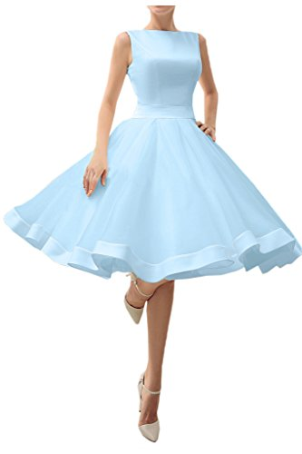 Buy light blue a line prom dress - 9