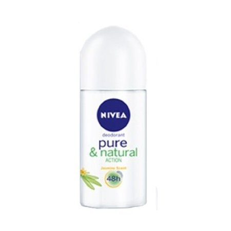 Price comparison product image New Nivea Deodorant Pure & Natural Action Anti-perspirant Roll-on 50ml
