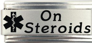 - On Steroids Medical Alert Italian Charm Bracelet Jewelry Link