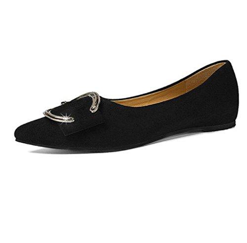 Primavera La Y El Ocasionales Coreana Mujer Nuevos Muyii Moda Poco Boca Profunda Verano Para Planos Zapatos De Black vIwqXp