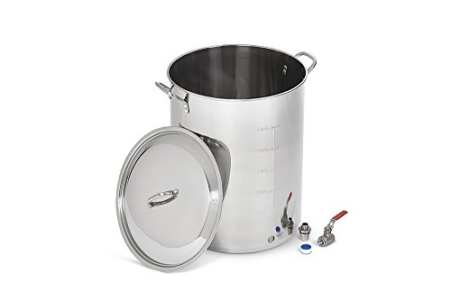Polar Ware Stainless Steel Brew Kettle with Cover and 1/2-inch Ball Valve, 60-Quart by Polar Ware