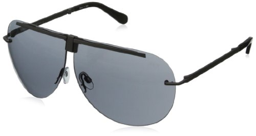 BMW B6509 Foldable Driving Sunwear Sunglasses,Matte Steel67 mm by BMW