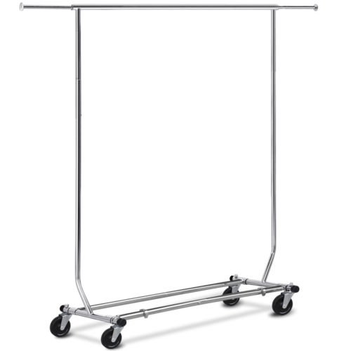 Collapsible/Folding Rolling Clothing/ Garment Rack Salesman's Rack (Collapsible Rack Clothing)