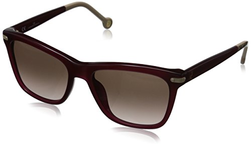 Carolina Herrera Women's SHE603 54099N Rectangular Sunglasses, Burgundy, Gold, Gradient Brown & Pink, 54 - Herrera Carolina 2015 Sunglasses