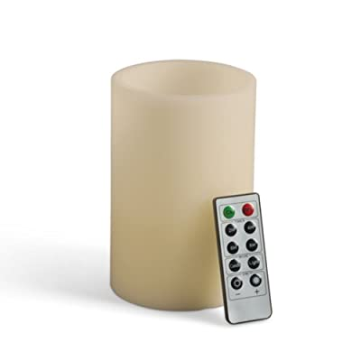 Gerson Universal Remote Wax LED Candle, 4 by 6-Inch
