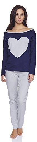 Italian Fashion IF Pijamas para Mujer Elisabet 0223 Azul Oscuro