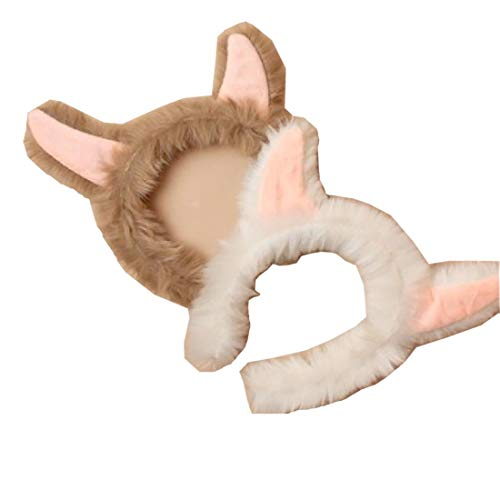 Rimi Hanger Alpaca Ears Faux Fur Headband Aliceband Adult Party Fancy Dress Costume Pack of 4