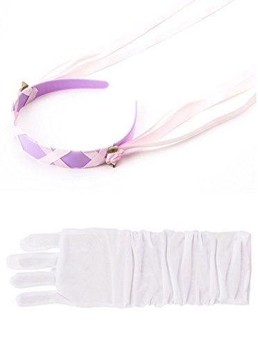 And Costumes Adults Frog Princess The Tiana (Little Adventures Rapunzel Headband & White Glove Set for Girls - One-Size (3+)