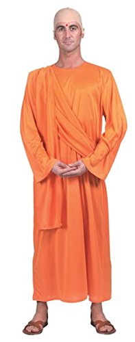 [Bristol Novelty Orange Hare Krishna Ff 52/54 Adult Costume - Men's - Large] (Fancy Dress Krishna Costume)