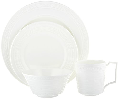 Cheap Wedgwood 4 Piece Intaglio Place Setting Dinner Set, White