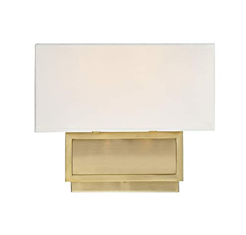 Trade Winds Lighting 2-Light Wall Mount Sconce in Natural Brass
