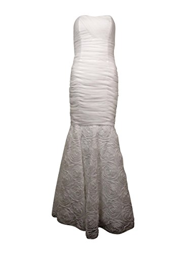 Betsy & Adam Womens Tulle Rosette Evening Dress White 6 by Betsy & Adam (Image #1)