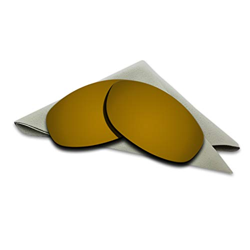 Bronze Golden Mirrored Polarized Lenses Replacement for Oakley Tightrope ()