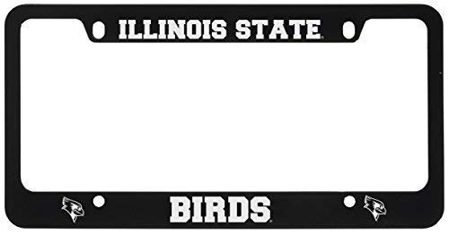 Illinois Plate Stickers - Acove Illinois State University Metal License Plate Frame-Black