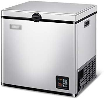 DIOE ポータブルカー冷蔵庫、車と家庭のデュアルユース、省エネ、12V / 24Vおよび220V(シルバーホワイト)