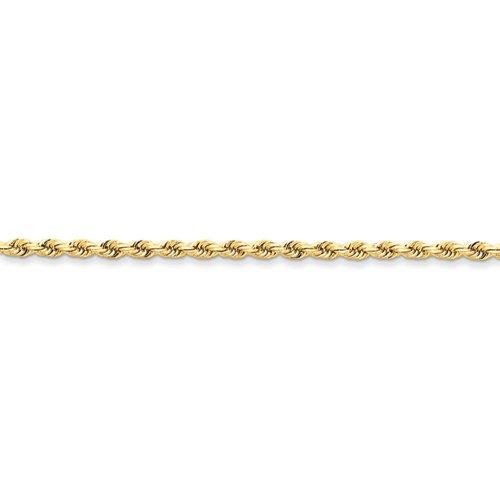 14KT 3.20MM(1/8 Of A Inch) Wide Diamond Cut Rope Bracelet 8 Inches In Length 14kt Diamond Cut Rope Bracelet