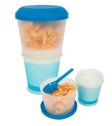 Cereal-2-Go Müslibecher mit integrierter Kühlung & Löffel -to-Go in optimaler Qualität für unterwegs.